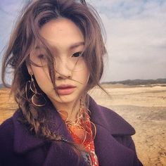 """Hoyeon Jung - """"When I'm not wearing any makeup, I only wash my face with water. Then I carefully use my fingers—not my palms—to apply moisturizer, so that the creams absorb well."""""""