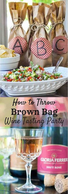 Host a party yet still actually enjoy yourself by following my simple steps on how to throw an easy blind tasting Brown Bag Wine Party. http://www.mamagourmand.com via @mamagourmand