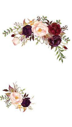 Flower Background Wallpaper, Flower Backgrounds, Wallpaper Backgrounds, Wallpapers, Creative Wedding Invitations, Wedding Invitation Templates, Invitation Cards, Floral Border, Border Design