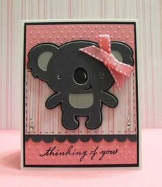 Thinking of You Koala Bear by hdawnparratt - Cards and Paper Crafts at Splitcoaststampers