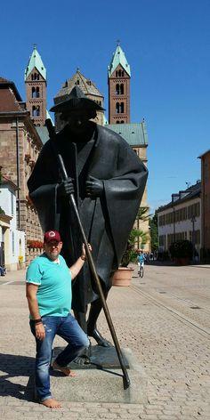 Gern bin ich auch Gast in Speyer a.Rhein.  Eine sehr barfußfreundliche Stadt in Rheinland Pfalz!