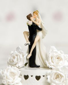 Funny Sexy Wedding Bride & Groom Cake Topper HAIR CUSTOMIZATION Available CHOOSE