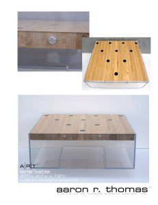 lane table - Modern Acrylic Furniture by Aaron R. Thomas