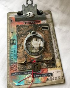 A Tim Holtz project, I like the tag distressed at the bottom