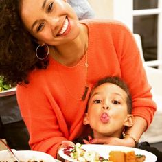Alicia Keys and her son Egypt