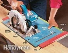 Circular saw ripping jig (assumes straight side)