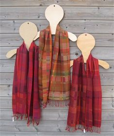 Stunning handwoven scarves from one of our Weaving Today members! Made using leftover wool from other projects.