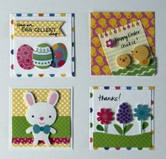 Cute mini cards created with Archiver's exclusive Hello Spring value pack by Doodlebug Design