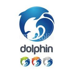 Dolphin With Wave Creative Logo Icon