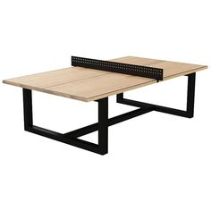 """Customizable """"Court"""" Modern Solid Wood and Metal Ping Pong Table   1st Dibs   $7900"""
