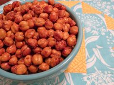 Salt and vinegar roasted chickpeas--must try for Super Bowl!