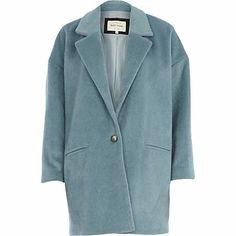 Blue soft oversized coat - coats - coats / jackets - women