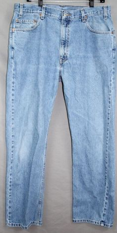 Levi's Strauss & Co Denim Distressed Jeans 505 Size 36x30 36 x 30 #Levis #505