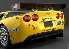 Yellow Corvette C6R Sticker Die Cut Decal. 6 to 8 Year Outdoor Life Yellow Corvette C6R Decal