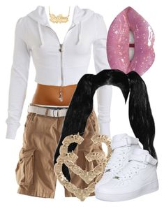 A fashion look from February 2018 featuring H&M, white leather shoes and heart jewelry. Browse and shop related looks. Swag Outfits For Girls, Cute Swag Outfits, Kpop Outfits, Teenage Outfits, 2000s Fashion Trends, Early 2000s Fashion, Teen Fashion, Fashion Outfits, Fashion Weeks