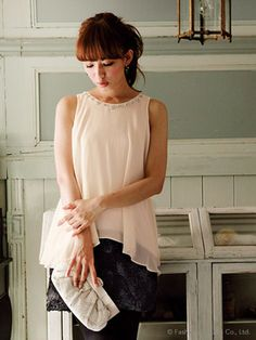 Rose motif separated top dress / Apuweiser-riche(アプワイザー リッシェ) ローズモチーフドッキングワンピース shopstyle.co.jp