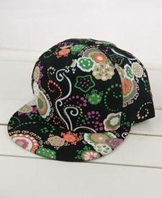 Colorful Floral Print Baseball Cap