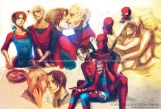 Yaoi Commission: Wade Wilson x Peter Parker by =Yaoi-World on deviantART