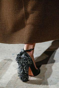 Rochas, autumn winter 2015 runway, pumps with studded heel