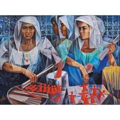 Vicente Silva Manansala (January 1910 - August was a Philippine cubist painter and illustrator. Manansala was born in. Various Artists, New Artists, Filipino Art, Philippine Art, Philippines Culture, Simple Acrylic Paintings, Art Database, Vintage Artwork, African Art