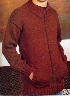 Patrones de Tejido Gratis - Campera con bolsillos Mens Winter Sweaters, Men Sweater, Hand Knitting, Knitting Patterns, Comfortable Outfits, Pulls, Knitting Projects, Knitwear, Knit Crochet