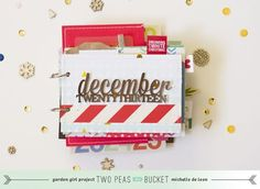Holiday Mini Album approach with Michelle De Leon - Two Peas in a Bucket