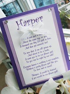 Flower Girl Card- Will You Be My Flower Girl- Bridesmaid Cards
