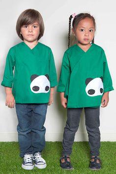 Tablier mixte petit panda #scuola #bambine #zaino #grembiule #school #ecole #blouse #tablier