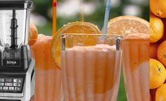 """The Ninja Blender Quick Orangesicle Smoothie is a """"Smoothies & Super Juices"""" drink loaded with vitamin C and tummy pleasing vanilla yogurt. This recipe will show you how to make one."""