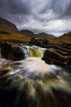 Glen Etive river, Glencoe, Highlands, Scotland