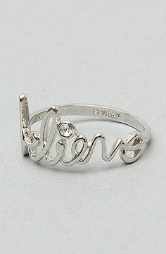 Disney Couture Jewelry TheBelieve Ring in Platinum : Karmaloop.com - Global Concrete Culture
