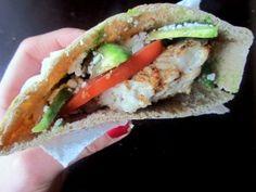 Turkey Burger Pitas with Avocado and Feta
