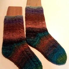 Hand Knit Adult Socks Women's Size 71/2 Made by SpruceCottageKnits