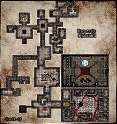 Yet another, H!: Keep on the Shadowfell map  by cadric, via cartographersguild.com