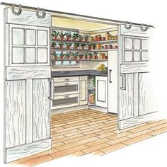 This pantry from This Old House is a must have in my new house...minus the horseshoes :)