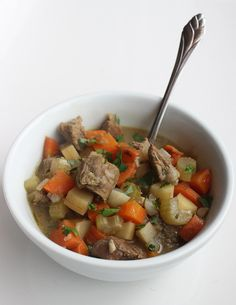 Tons of root veggies and fresh, fragrant herbs make this a fiber- and protein-rich beef stew that will fill up calorie- and carb-conscious eaters — a huge helping weighs in at just 265 calories!