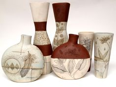 Canteen, Pin and Cylinder Vases