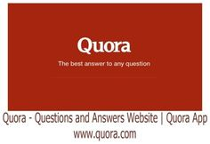 Quora - Questions and Answers Website   Quora App   www.quora.com - Bingdroid Question And Answer, This Or That Questions, English Language Learning, Blockchain, Messages, App, Website, Platform, Community