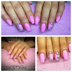 Gel nails extensions with 'Cou-tour the streets' by Gelish