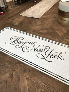 Sézane Opens in New York (Habitually Chic) Word Mosaic, Mosaic Art, Mosaic Tiles, Mosaic Floors, A Little Life, Marble Pattern, Painted Floors, Tile Patterns, Lettering Design