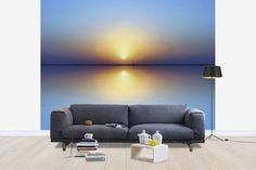Sunset Over the Sea - Fototapeter & Tapeter - Photowall