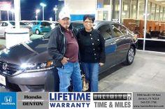 Congratulations to Ruth  Orona on your #Honda #Accord purchase from Sarah Blacmon at Honda of Denton! #NewCar