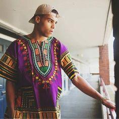 Purple African Dashiki Shirt Only $15