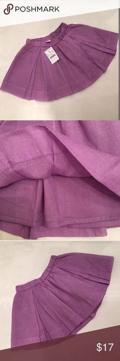 💜 NWT Crewcuts skirt Never worn cotton skirt from J Crew. This is adorable. Elasticized waist. Fully lined. Smoke and pet free household. Crewcuts Dresses
