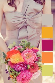 I LOVE this if I hadn't already picked my other wedding colors. Fall colors I love? Bright & classy