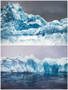 Art of Zaria Forman - Antartica (finger paint)