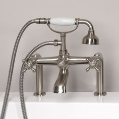 Vera Deck Mount Victorian Style Tub Faucet with Hand Shower