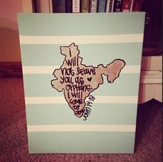 john 14:18 india orphan bible verse canvas. So cool for the families I know adopting overseas!