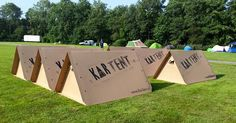 KarTent: recyclable cardboard tents could solve the waste problem at music festivals KarTent cardboard tent – Inhabitat - Green Design, Innovation, Architecture, Green Building Tent Camping, Glamping, Camping Stuff, Camping Tips, Two Person Tent, Materiel Camping, Lightweight Tent, Tent Design, Open Air