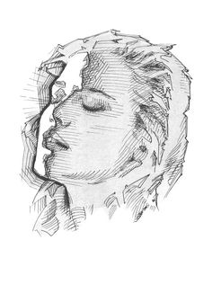 Portrait of woman, Ink on paper edited with ps, digital Cross Hatching, Tatting, Dots, Ink, Portrait, Digital, Drawings, Paper, Artist